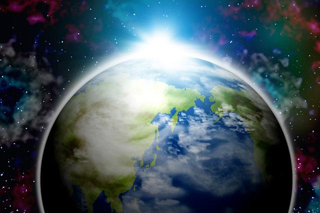 宇宙から見た地球の画像